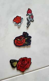 BN Rose Iron On Patches