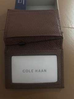 100% authentic wallet pass-case soft GENUINE leather Cole HAAN