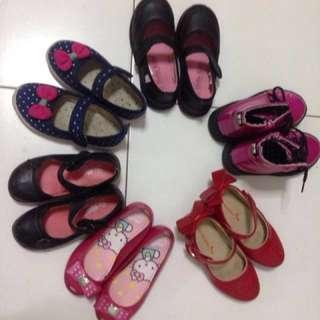 6-in-1 Preloved Girls Shoes: All for $30✔️
