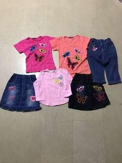 Butterflies top and bottom (total 7 pieces for $15