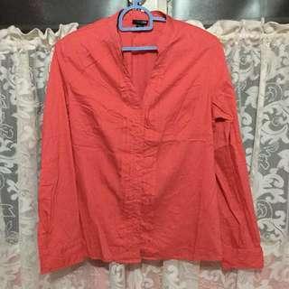 Boho button down blouse