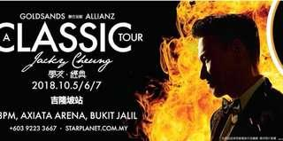 VIP ZONE TICKET X1 JACKY CHEUNG CONCERT IN MALAYSIA