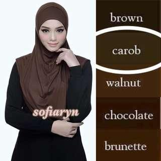 NEW Carob Full Instant Shawl (with tube Inner)