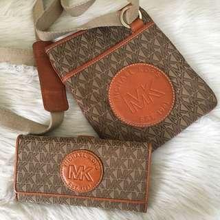 Michael Kors Messenger Bag and Wallet Set
