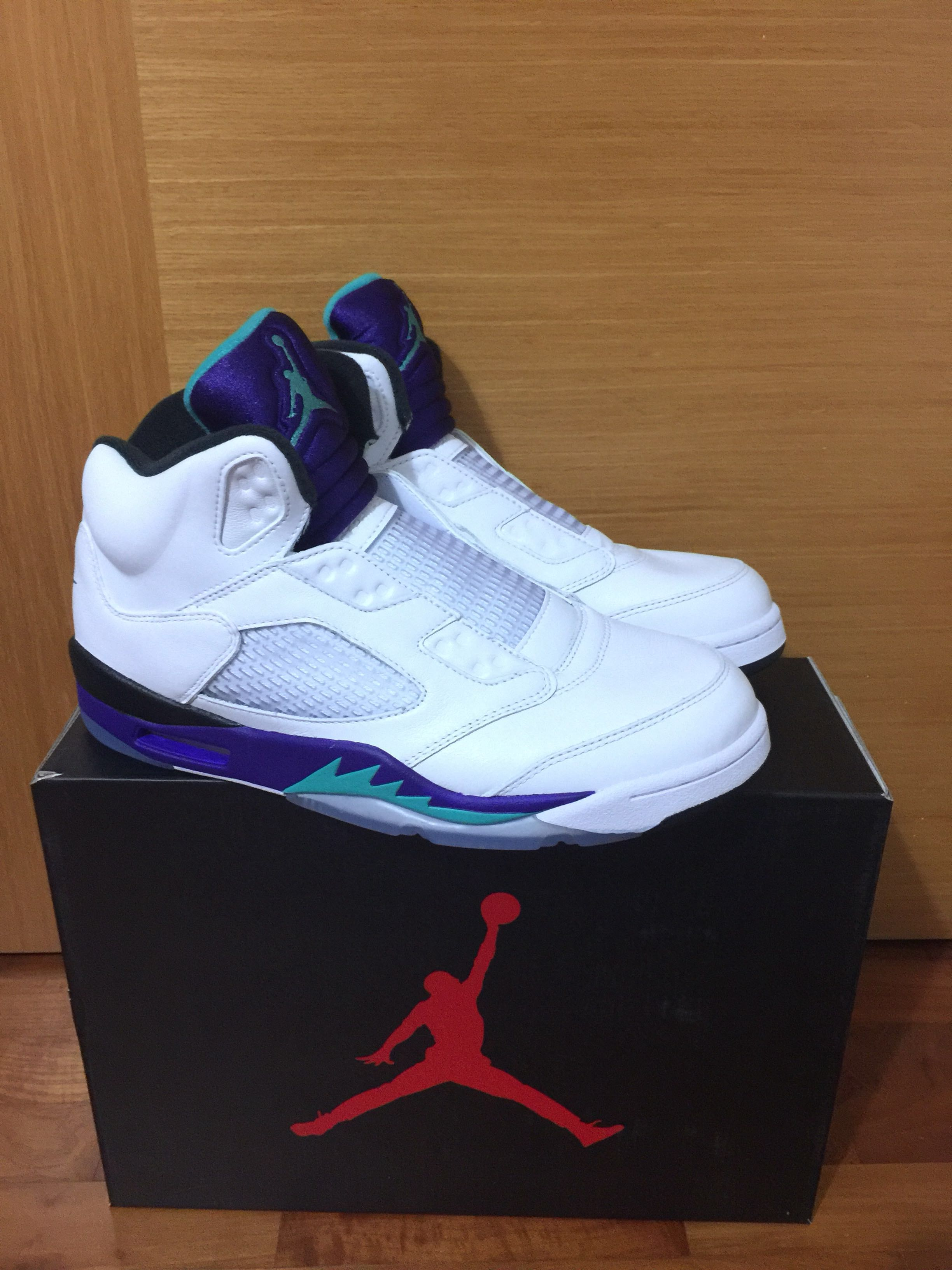 0b48d192d80e 2018 Nike Air Jordan 5 V Retro NRG Fresh Prince NEW Grape AV3919-135 ...