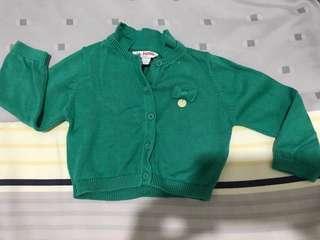 Poney Cardigan Green