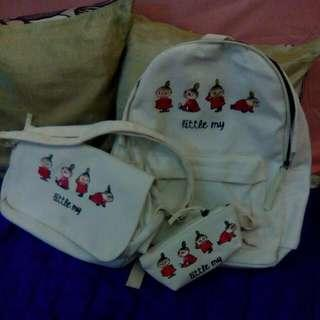One Set Cacha White Imported Bags