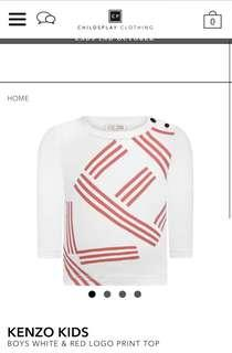 Baby Kenzo White/Red Top