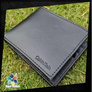 全新 Calvin Klein (CK) Men's Leather Wallet, Black