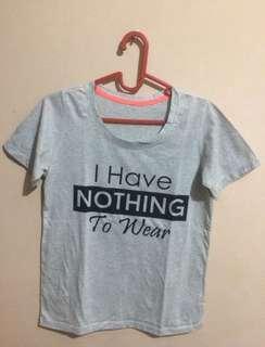 [FREE ONGKIR JABODETABEK] Grey T-Shirt