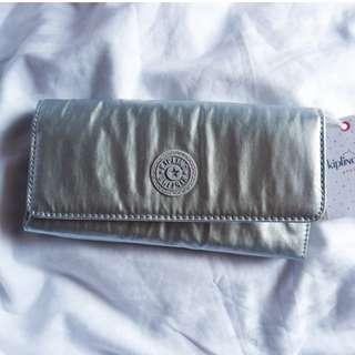 Kipling New Teddi Platinum Metallic Wallet