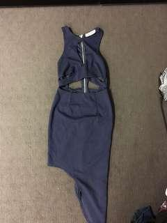 Ladies navy blue dress