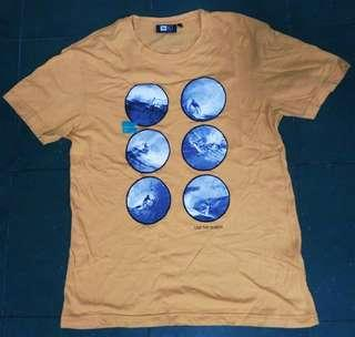 Ripcurl live the search surf brown t-shirt