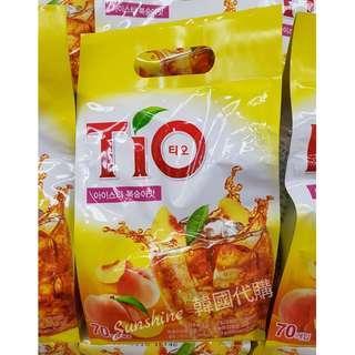 預購 韓悅 TIO 水蜜桃冰茶 13g 條 盒裝150入