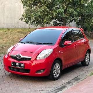 Toyota New Yaris J Automatic 2011 Merah Ferarri,