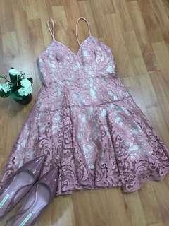 Padded Lace dress
