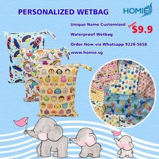 🚚 ✔️Customised waterproof wet bag/childcare/baby/school/diapers bag/swimming bags/unique