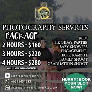 Photography services for event