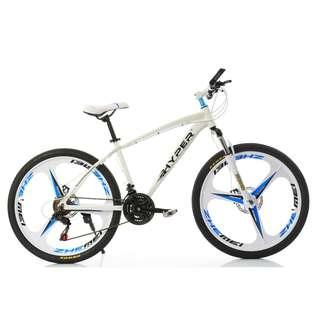 PROMO-FREE Delivery -Brand new 26'' Mountain Bike, with Aluminium alloy frame , 3 Spoke wheels , 21 Speed Shifter, Quick Release wheels, Disc brakes etc.