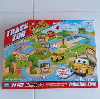 Brand New in Box Intelligent Recognizing Musical Zoo Track - Smart Sensitive Music Zoo Travel Building Track Lego Bus Playset (34pcs)
