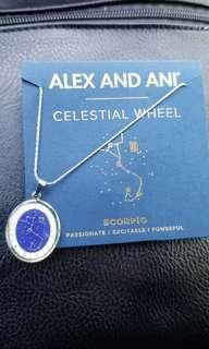 Alex and Ani Silver celestial wheel necklace