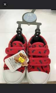 Red baby car Velcro shoes