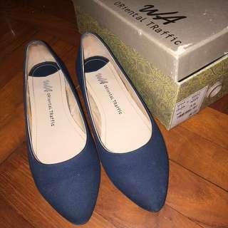ORiental TRaffic藍色平底鞋