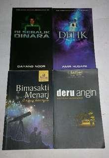 4 NOVEL MELAYU MALAY BOOK
