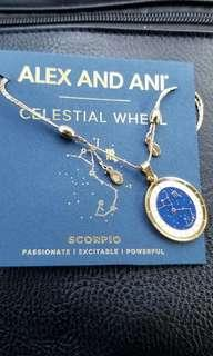 Alex and Ani gold celestial wheel necklace