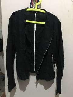 ZARA Linen Biker Jacket