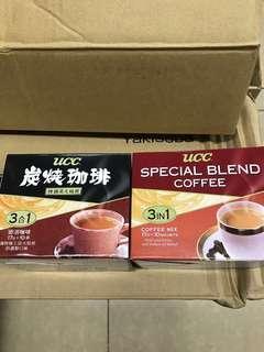 全新 UCC 炭燒咖啡 special blend coffee 每款每盒10包 $23