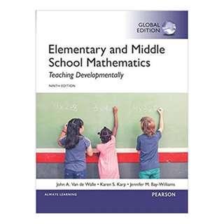 Elementary and Middle School Mathematics: Teaching Developmentally 9th Edition, Kindle Edition by John A. Van de Walle  (Author), Karen S. Karp (Author), Jennifer M. Bay-Williams  (Author)