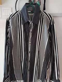 Long Sleeve Casual Stripe Shirt