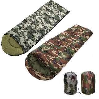 露營 睡袋 camping sleeping bag 包郵 迷彩 單人 舒適 信封式 戶外活動 帳蓬 保暖 裝備 1KG CA019