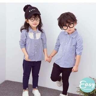 Kids Girls Boys Unisex Long Sleeve Shirt