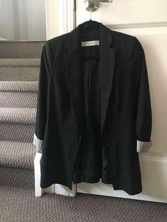 Zara Black Blazer- Size Small