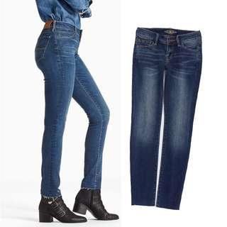 Lucky brand mid-waist Skinny Jeans 中腰牛仔長褲