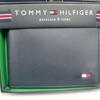 全新美國入口 TOMMY HILFIGER Wallet 銀包 (真皮) 禮物 專門店賣$590 深藍色 父親節禮物