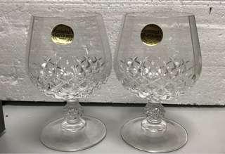 酒杯 拔蘭地水晶酒杯1對