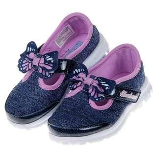 SKECHERS GO WALK系列銀藍紫色輕便鞋