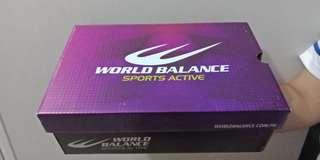 World Balance white mover rubber shoes sneakers