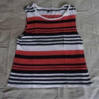 Forever21 Striped Sleeveless Top Size S