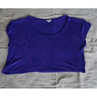 Forever21 Purple Crop Top Size S