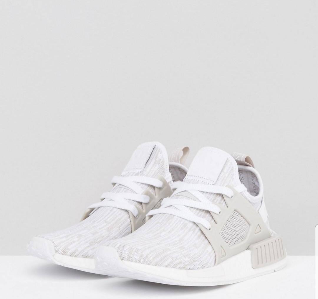 adidas originals beige nmd xr1 primeknit trainers