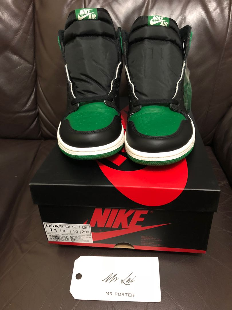 cf2031754f6363 Air Jordan 1 Retro High Pine Green (555088-302)