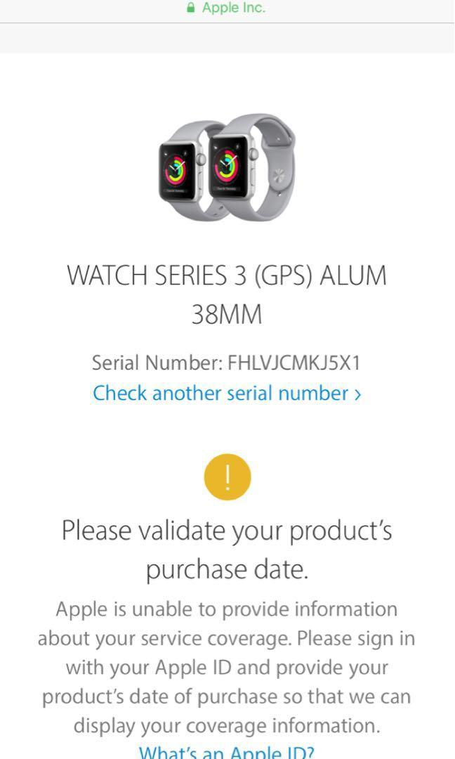 Apple Watch series 3 in Pink Sand Aluminum (38mm)