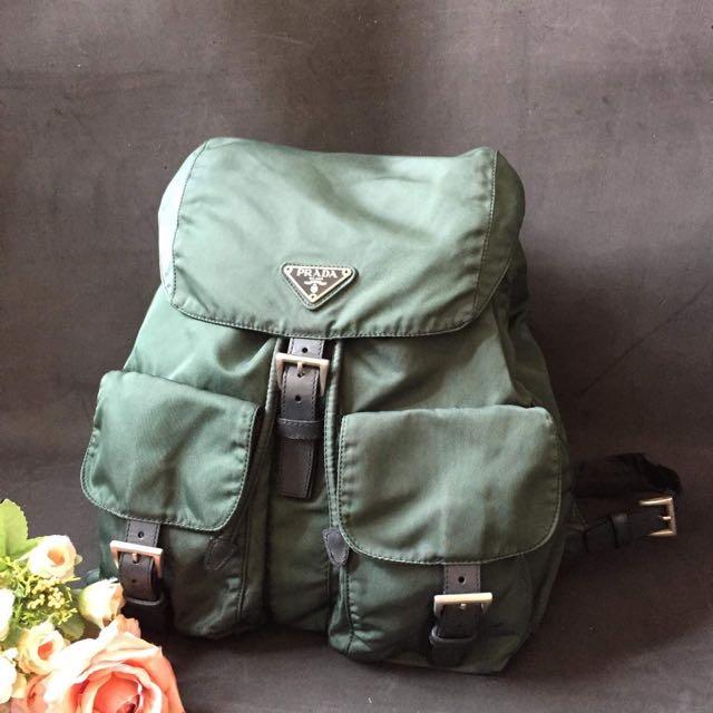 Authentic100% Prada Backpack 4c198c95b72fd