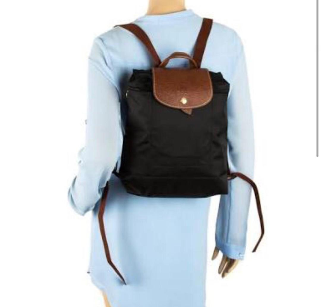 Authentic Long Champ Le Pliage Nylon Backpack