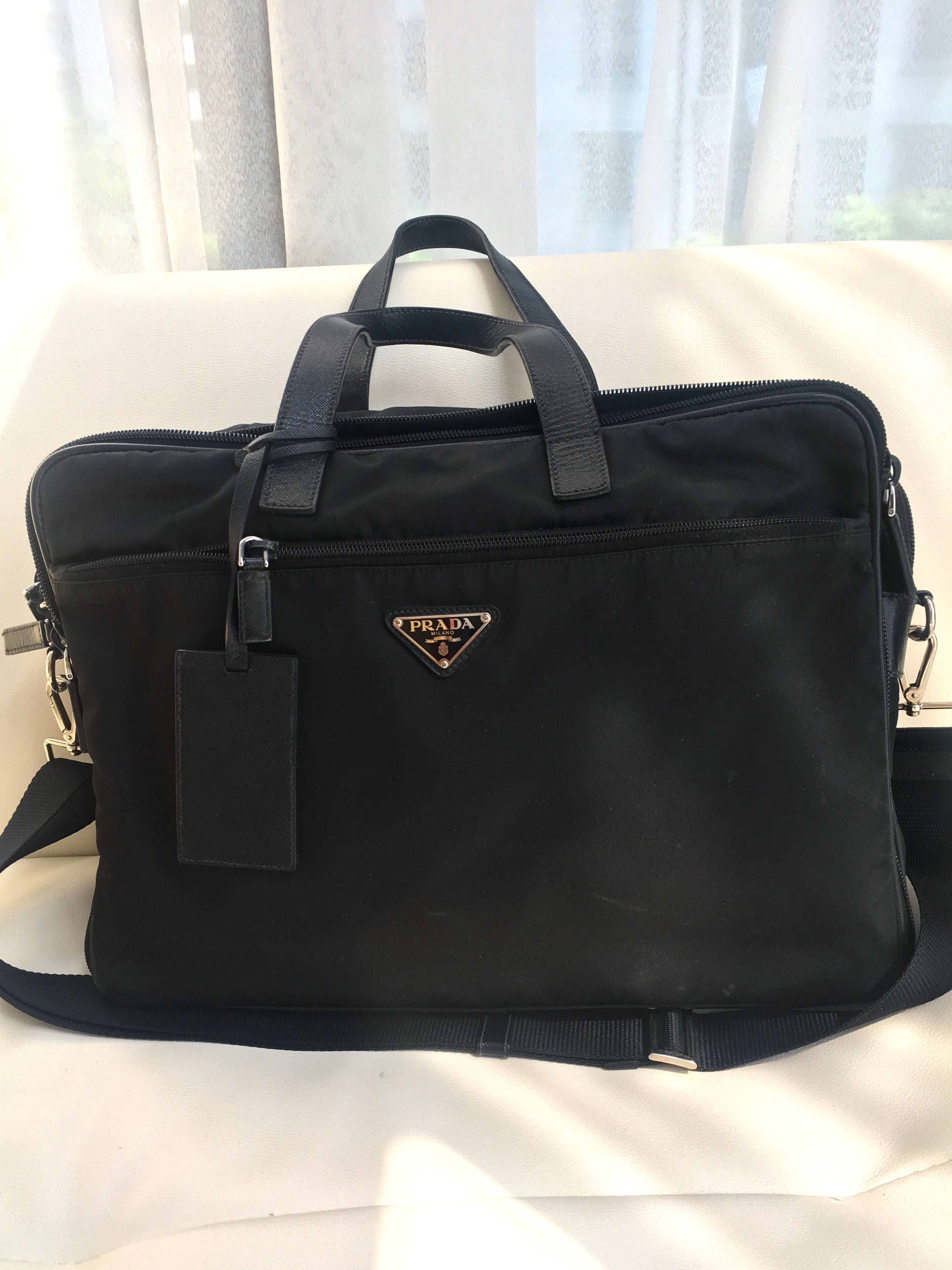 ad158bac0d Authentic Prada briefcase, Men's Fashion, Bags & Wallets, Briefcases on  Carousell