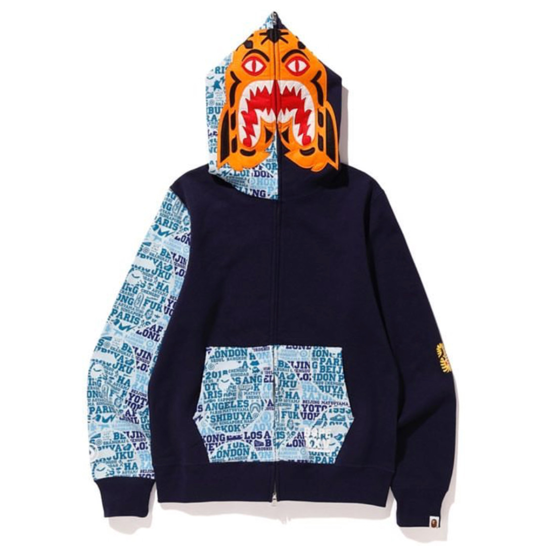 3eb1aee6 BAPE XXV Cities Camo Tiger Full Zip Hoodie, Men's Fashion, Clothes, Tops on  Carousell